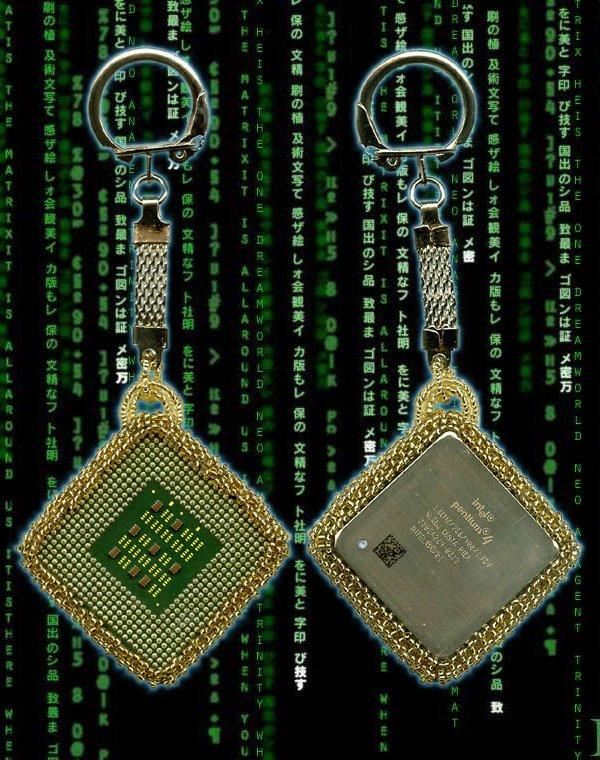 "Брелок  ""Matrix "" - Бисер, Intel Pentium 4."